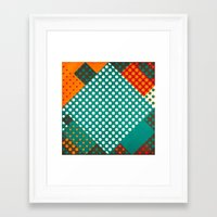 dots Framed Art Prints featuring Dots by SensualPatterns