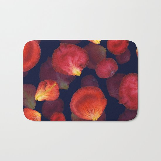 Rose Petal Pattern on Darck 04 Bath Mat