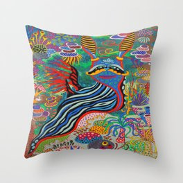Smile for the Camera Throw Pillow