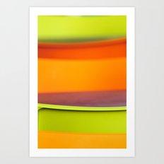 Chair Colors Art Print