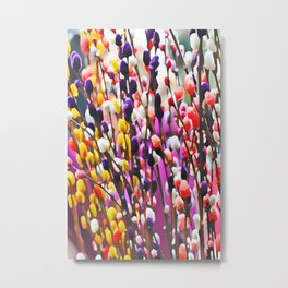 Abstract Pussy Willows Metal Print