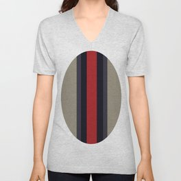 High Fashion Designer Style Stripes Unisex V-Neck