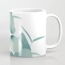Eucalyptus Leaves Green White #1 #foliage #decor #art #society6 Coffee Mug