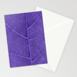 Neon Purple Leaf with Veins Stationery Cards