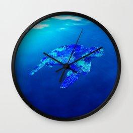 Underwater Sea Turtle Wall Clock