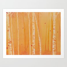 The Heat of Autumn Art Print