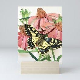 Floral Paper Cut Swallowtail Mini Art Print