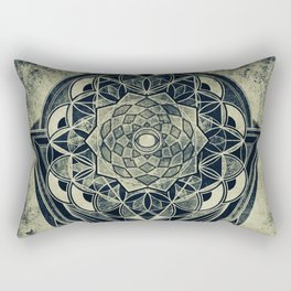Sacred Geometry for your daily life -  Galactic OHM Rectangular Pillow