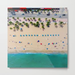 USA Photography - Miami Beach From Bird Perspective Metal Print