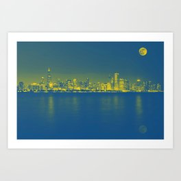 Panorama View of Adler Planetarium, Chicago, United States 1 Art Print