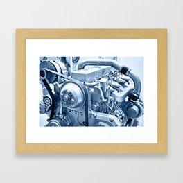 Turbo Diesel Engine Framed Art Print