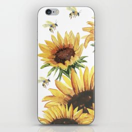 Sunflowers and Honey Bees iPhone Skin