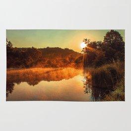 Sunrise at the lake/Sonnenaufgang am See Rug