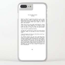 Becoming Real, Velveteen Rabbit Quote Clear iPhone Case