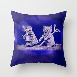 CatCurios 01 Throw Pillow
