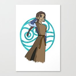 BEAUTIFUL ART OF KATARA FROM THE WATER TRIBE Canvas Print