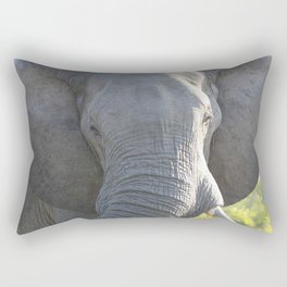 Elephant Up Close and Personal Rectangular Pillow