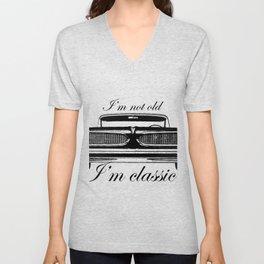 I'm not old I'm classic car funny tees - Mens & Women's White Unisex V-Neck