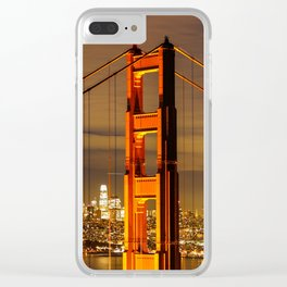 Golden Gate Bridge at Night Clear iPhone Case