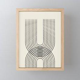 Arch duo 1 Mid century modern Framed Mini Art Print