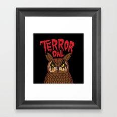 Terror Owl Framed Art Print