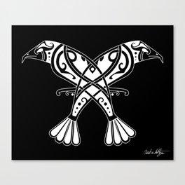 Huginn and Muninn- Two Ravens Canvas Print