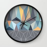 nordic Wall Clocks featuring Nordic Combination 31 by Mareike Böhmer