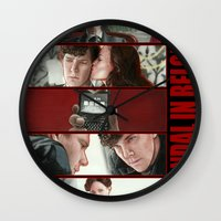 scandal Wall Clocks featuring A Scandal in Belgravia by Alessia Pelonzi