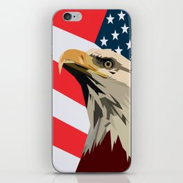 Eagle. Red, White and Blue. USA. Patrotic iPhone Skin