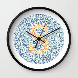 """S"" Eye Test Letter Circle Wall Clock"