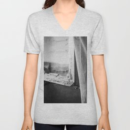 I am a visitor - A window in Tuscany Unisex V-Neck