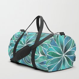 Floral Vines - Blue Green Duffle Bag