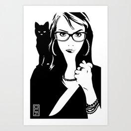 Tulip + The Cat Art Print