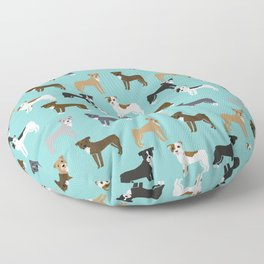 Pit Bull Terrier cute dog art pet portrait must have pet friendly gifts for dog person pit bulls Floor Pillow