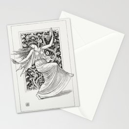 Dancing Nymph (Nymphe Danseuse)(1895) by Walter Crane Stationery Cards