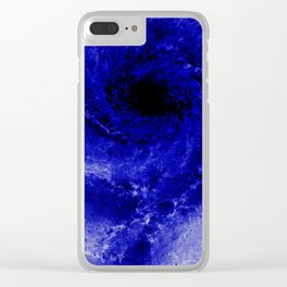 Black and Blue Clear iPhone Case