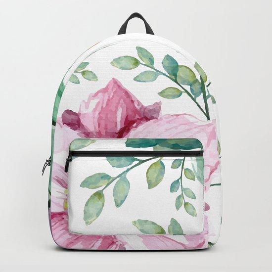 FLOWERS WATERCOLOR Backpack