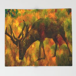 Camouflage Deer Throw Blanket