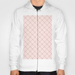 Back to School- Simple Diagonal Grid Pattern- Black & Pink - Mix & Match with Simplicity of Life Hoody