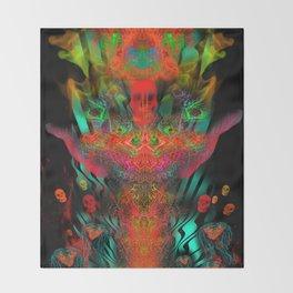 Atomic Psychedelia Throw Blanket