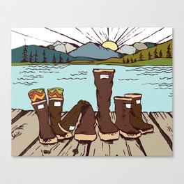 AK Family or BUST Canvas Print