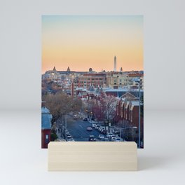 View of Washington Monument from Columbia Heights Mini Art Print