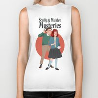 mulder Biker Tanks featuring Scully and Mulder Mystery Stories  by Celeste Pille