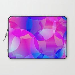 Violet and blue soap bubbles. Laptop Sleeve