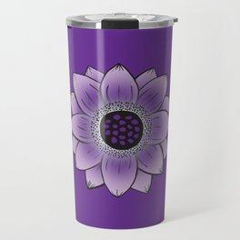 Purple Lotus Travel Mug