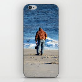 Searching The Beach iPhone Skin