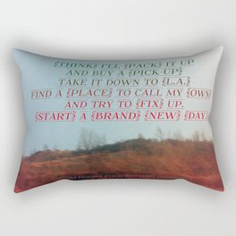 """""""Out On The Weekend"""" by Neil Young Rectangular Pillow"""