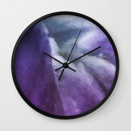 Inside the Purple Flower Universe Wall Clock