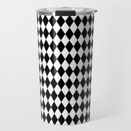 Black & White Diamond Pattern Travel Mug