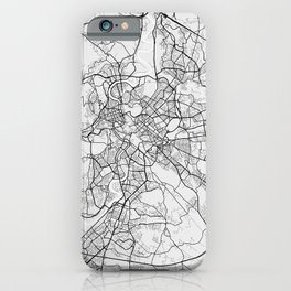 Rome City Map of Italy - Light iPhone Case
